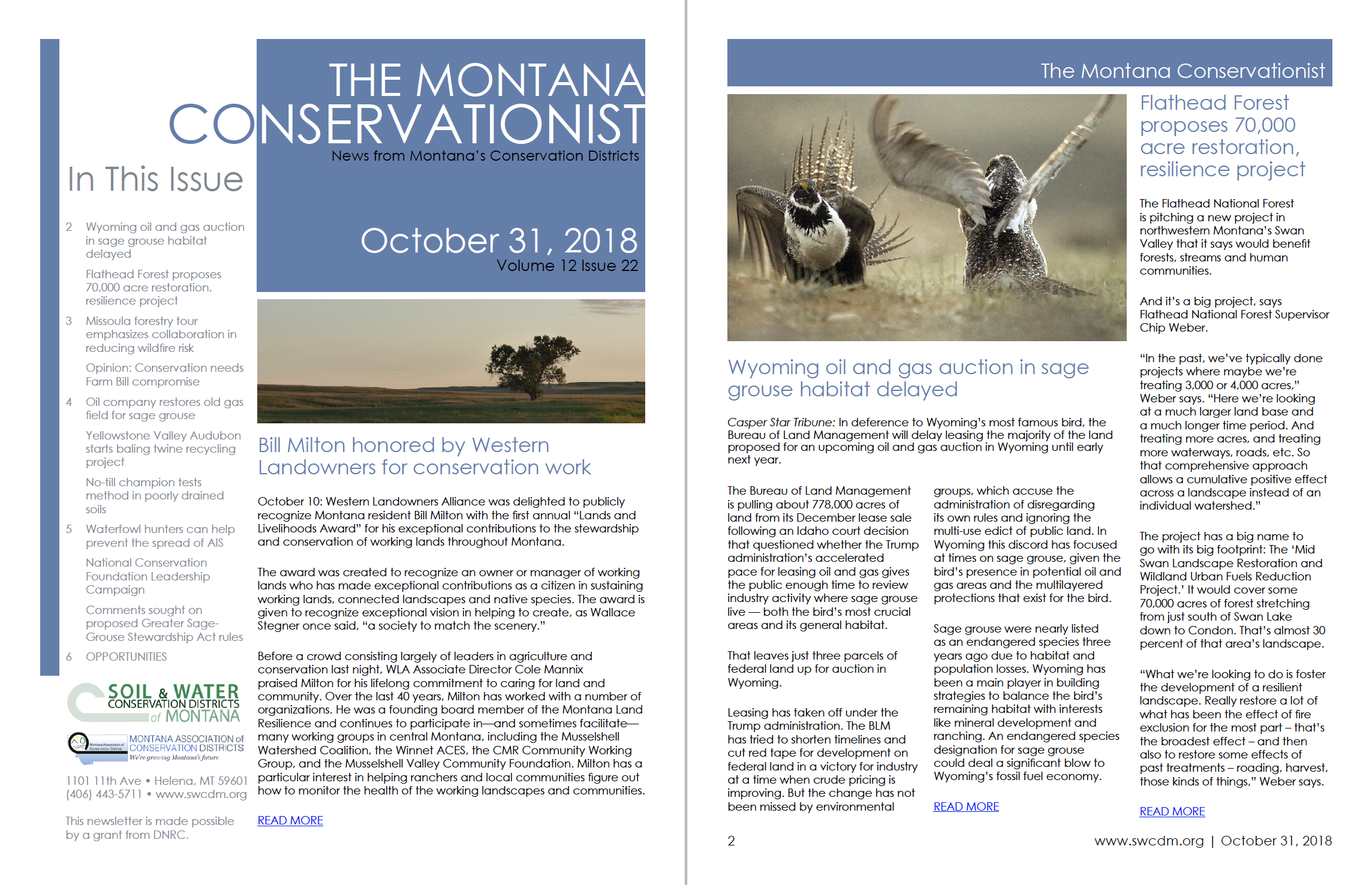 The Montana Conservationist October 31