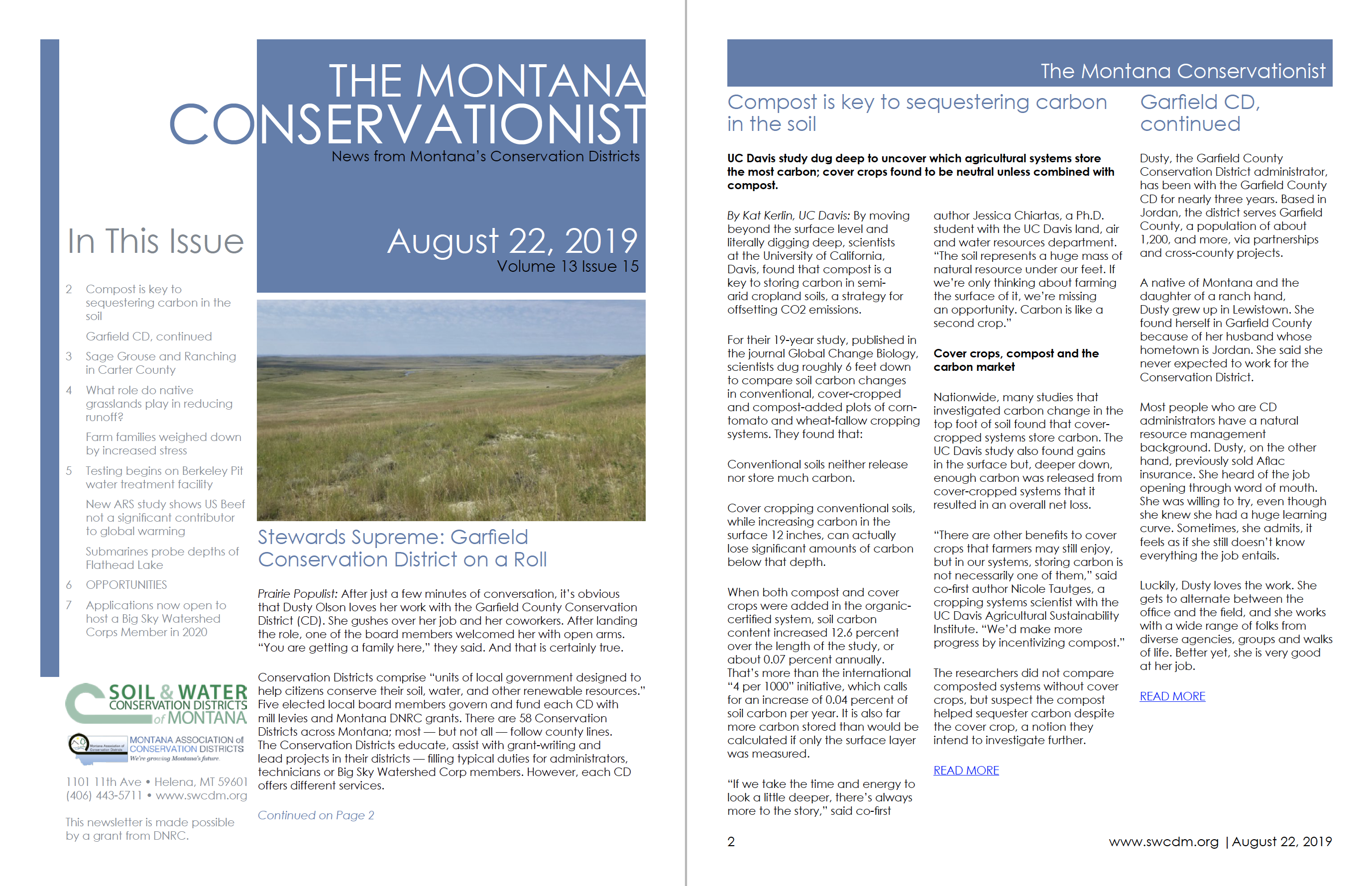 The Montana Conservationist August 22 – Soil and Water